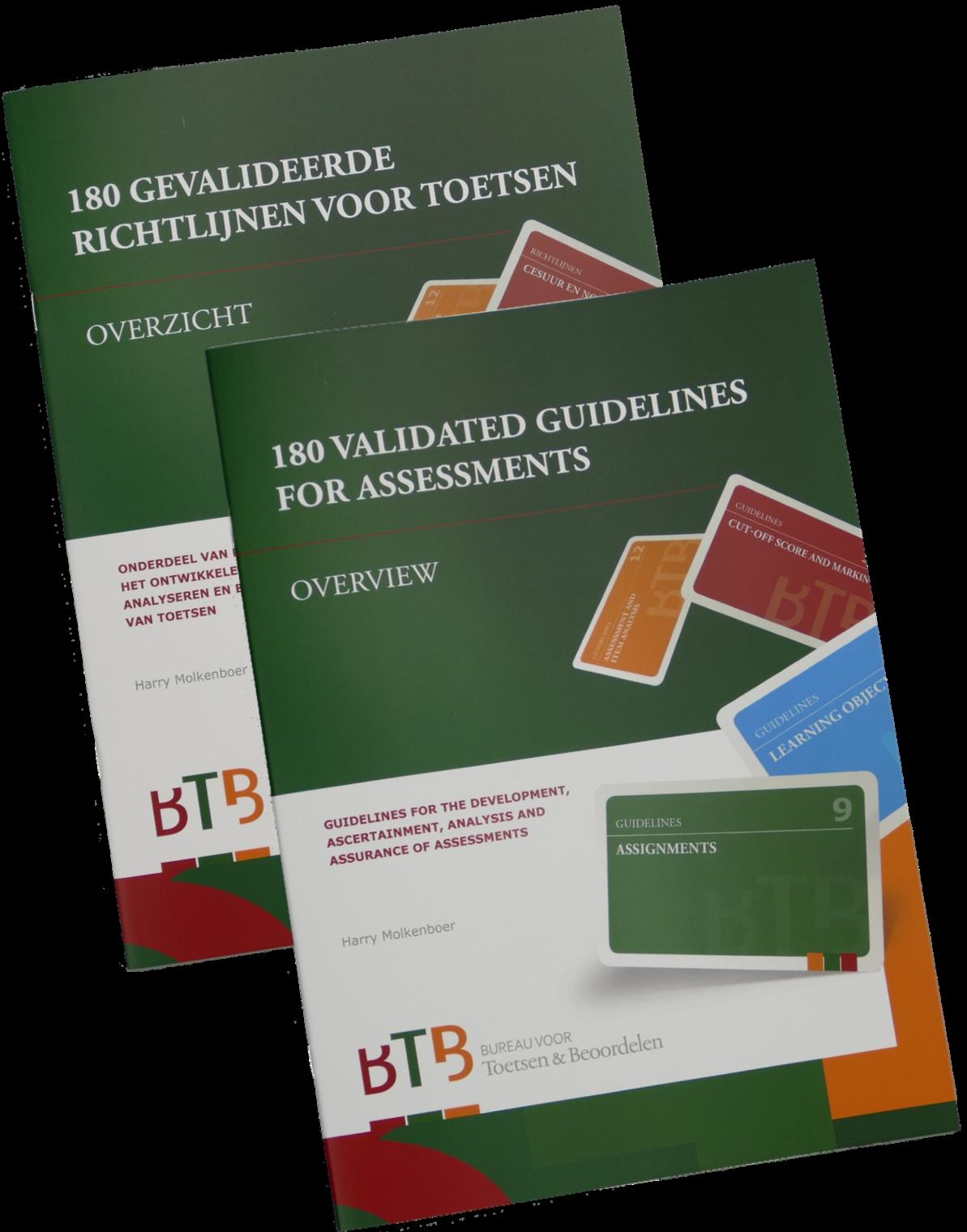 Boek Overzicht 180 gevalideerde richtlijnen voor toetsen