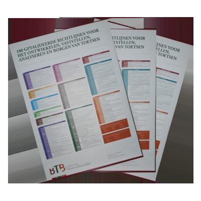 A0-poster met 180 gevalideerde richtlijnen voor toetsen